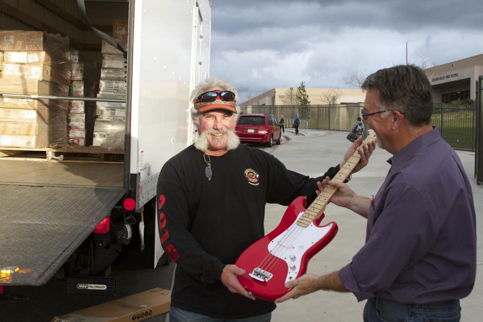 Marc Shows Off Guitar