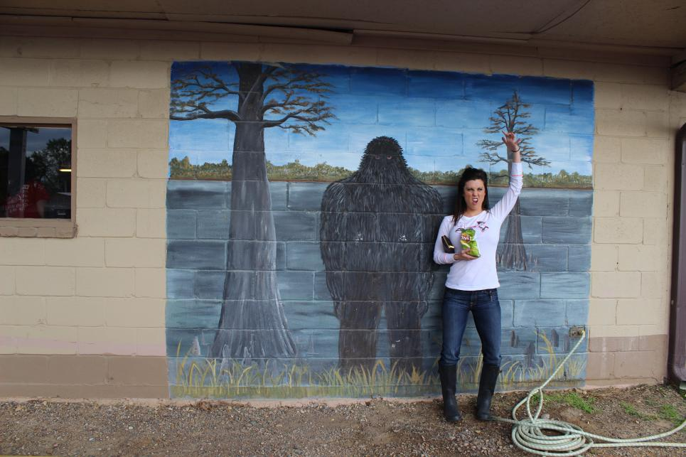 Jennifer with Bigfoot