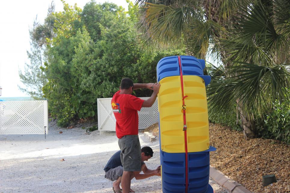 Jarrett Builds Water Pillar