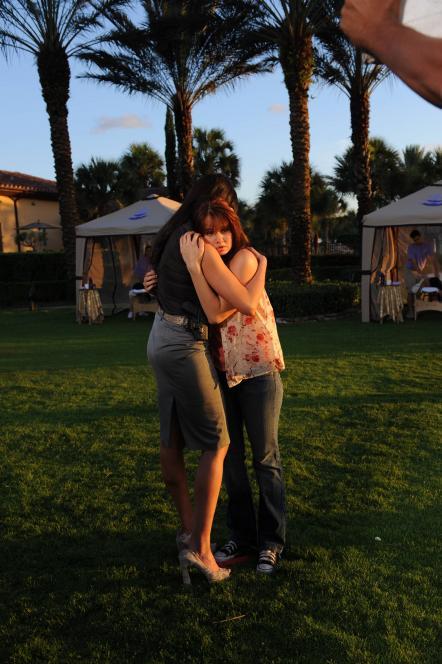 Jennifer embraces Christa