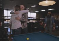 Anthony and Hugh Hug It Out At the Pool Hall