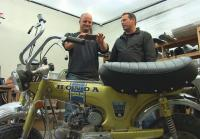 Steve and Antonio add handles to minibike