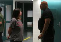 Deputy Larry Langston asks Sabrina if she thinks the jail tour will change her attitude.