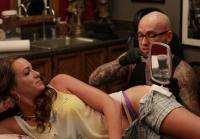 Rachel Checks Out Her New Tattoo