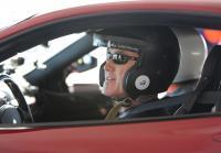 Dirk straps into a Ferrari