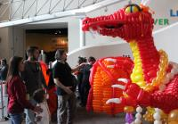 Chris, Robbie, and Carter Check Out Balloon Dragon