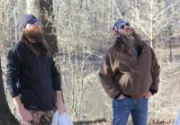 Willie and Jase During Tent Set Up