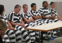The teens prepare to hear from inmates.