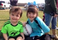 River and Priscilla at Soccer