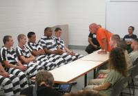 Inmate Dakota Joe shocks the teens.