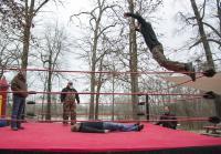 Jase and Martin Wrestling