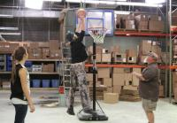 Basketball in the Warehouse