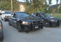 Patrol units stop a car