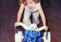 Heather as a Child on a Bike