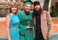 Missy and Jase with Reed at Graduation
