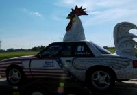 Jarrett Transports a Chicken Car