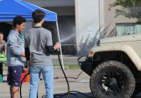 Will and John Luke at Car Wash