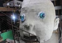 Giant Baby Head Sculpture