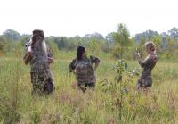 Phil, Kay, and Jessica on a Hog Hunt