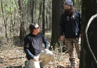 Alan and Jep in the Woods