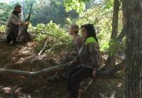 Jessica and Kay are Bored During the Hog Hunt