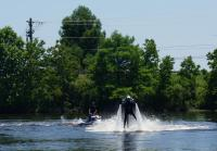 Willie Rides a Water Jetpack