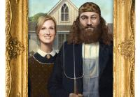 Willie and Korie in American Gothic
