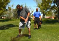 Antonio and Steve play golf