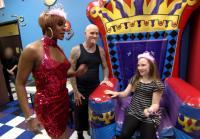 Dirk brings Princess Toni to daughter's party