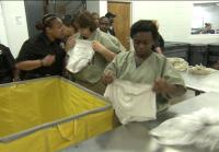 Teens are forced to fold inmates' laundry