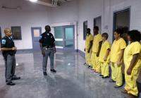 Officers Talk To Juveniles