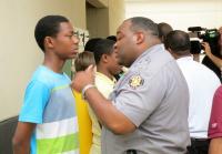 Antonio takes in Lt. Hayes' verbal onslaught