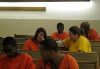 Teens Sit With Inmates