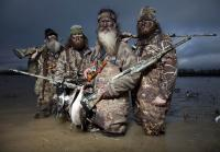Phil and Duck Commander staff duck hunt