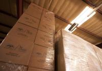 Boxes of Duck Calls in the Warehouse
