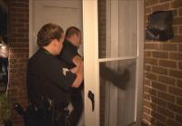 Dallas Police execute a search warrant.