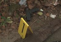 Detectives are surprised to find a 9mm handgun