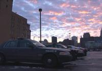Sun Sets Over Cleveland PD HQ