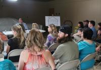 Missy and Jase attends Homeowners Association meeting