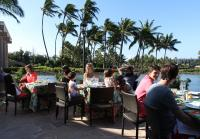 Robertsons eat breakfast in Hawaii