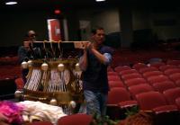 Jarrett is late delivering chandelier