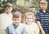 John Luke, Cole, Sadie, and Reed photographed as kids