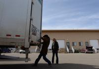 Walt opens truck doors