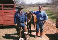 Jerry and Teenage Robert on a Hog Hunt