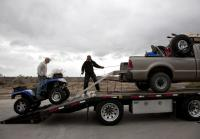 Pick-up truck flatbed makes room for ATV