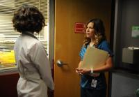 Callie talks to Miranda about  hospital rumors