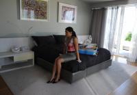 Jennifer jealous of  victim's hotel bed