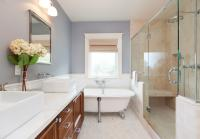 Use gloss paint in bathrooms and kitchens