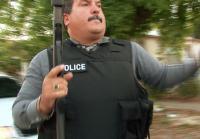 Detective Silva wears armored vest