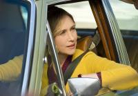 Norma drives through town